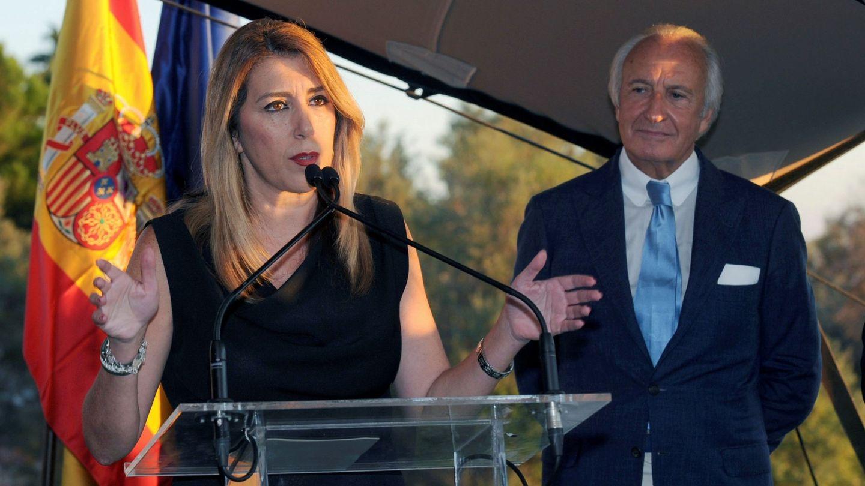 Susana Díaz, junto a Ricardo Arranz. (EFE)