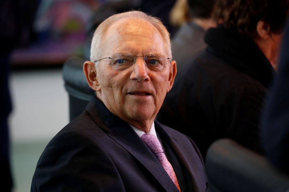 Foto: El ministro de finanzas alemán Wolfgang Schäuble durante La reunión semanal del Gobierno en la Cancillería en Berlín, el 13 de septiembre de 2017. (Reuters)