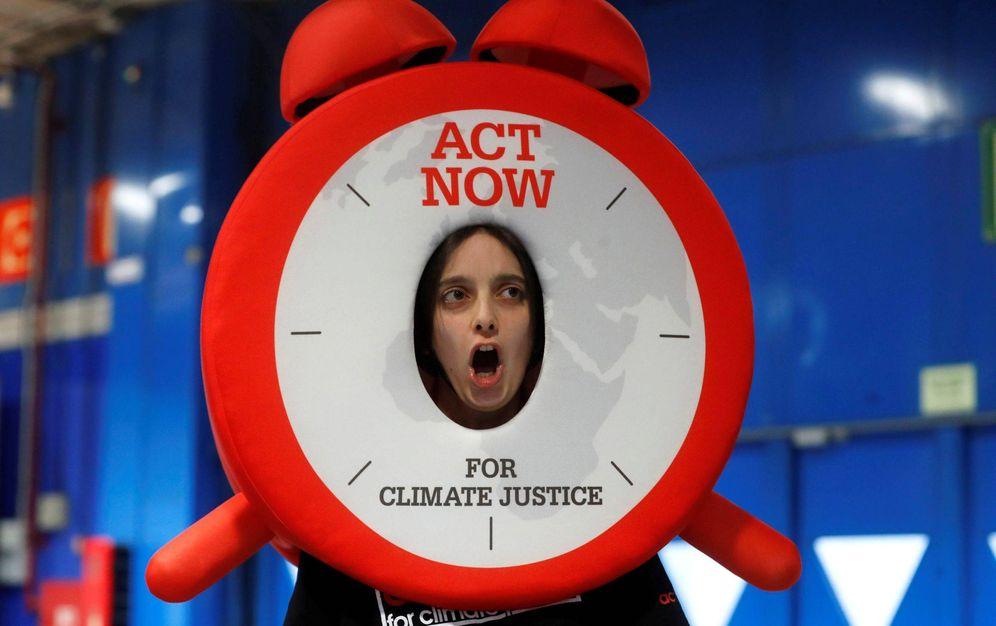 Foto: Acto reivindicativo de la organización ACT Now for Climate Justice por la justicia climática. (EFE)