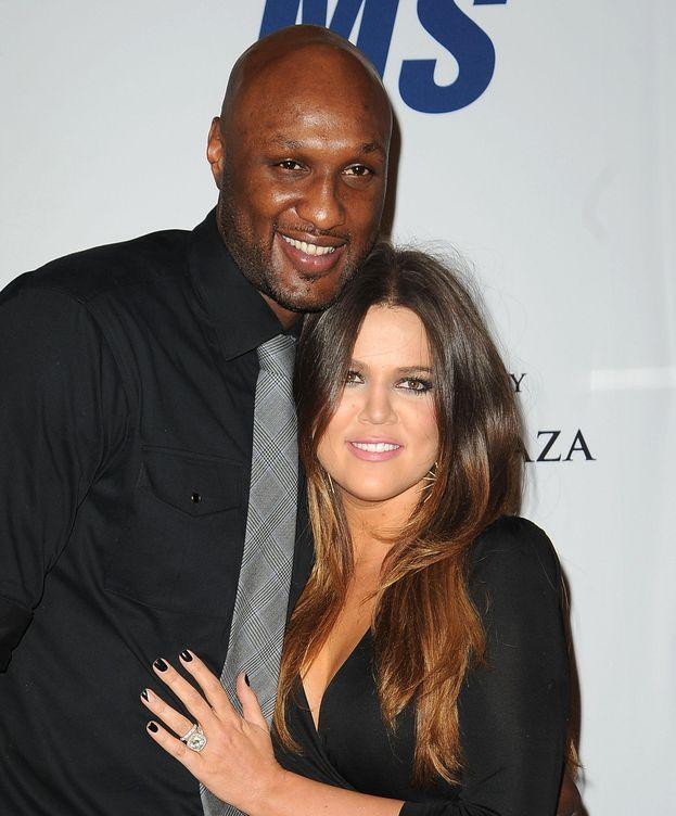 Foto: Lamar Odom junto a Khloé Kardashian, en una imagen de archivo (Gtres)