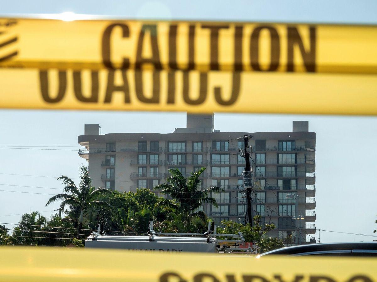 Foto: Edificio colapsado en Miami. (EFE)