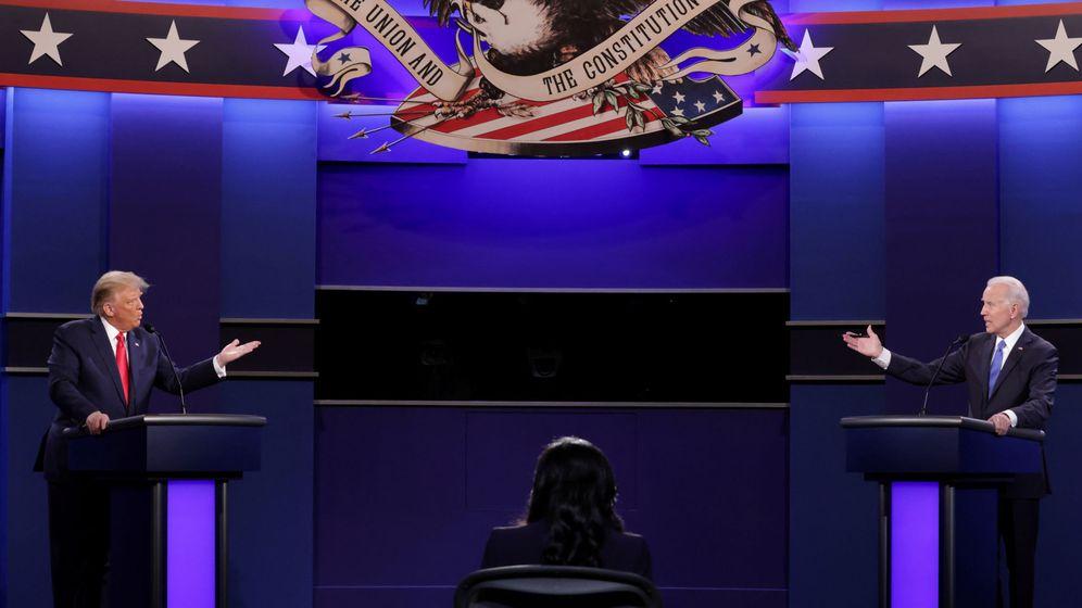 Foto: Los candidatos a la presidencia de EEUU, Donald Trump (i) y Joe Biden (d), durante uno de sus debates electorales. (Reuters)