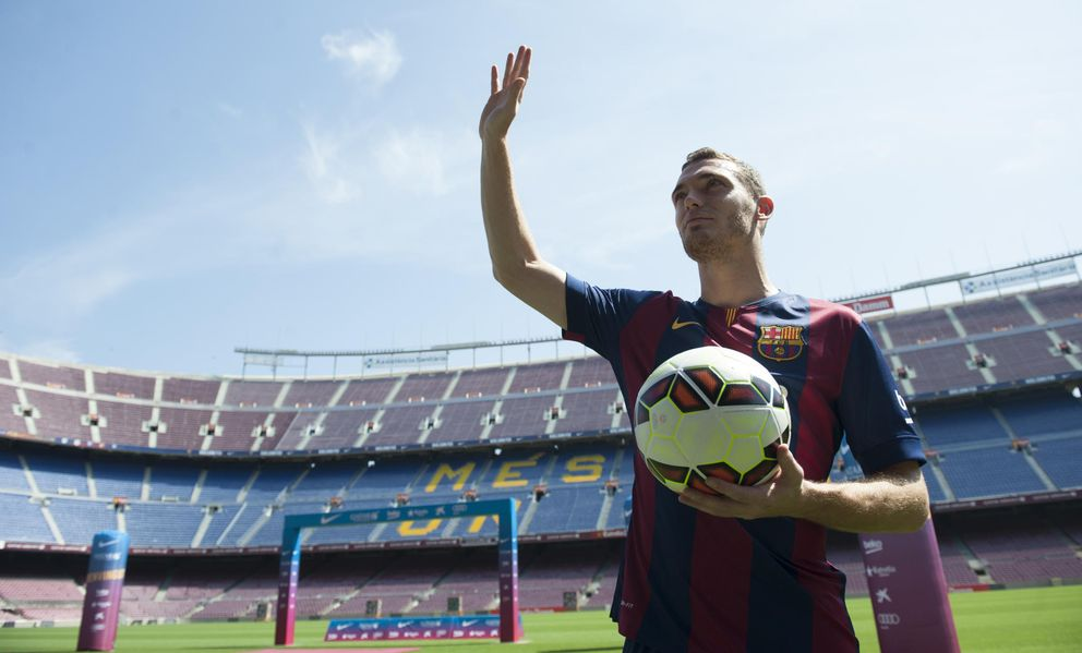 Foto: Thomas Vermaelen, el día de su presentación como jugador del Barcelona (AP)