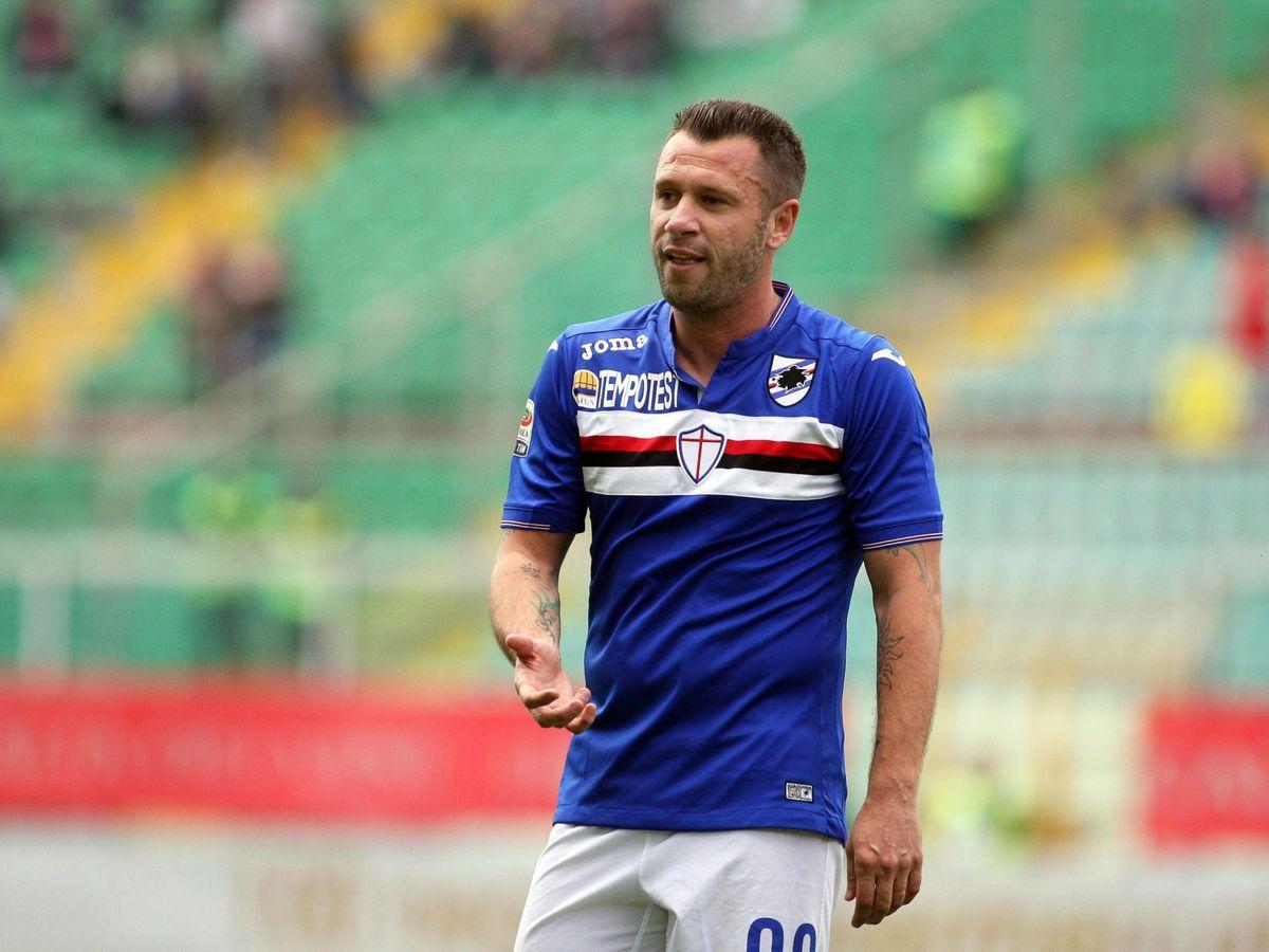 Foto: Antonio Cassano, en la Sampdoria. (EFE)