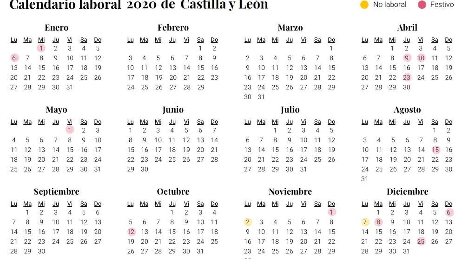 2020 Calendario Laboral.Calendario Laboral 2020 En Castilla Y Leon Aprobado Dos