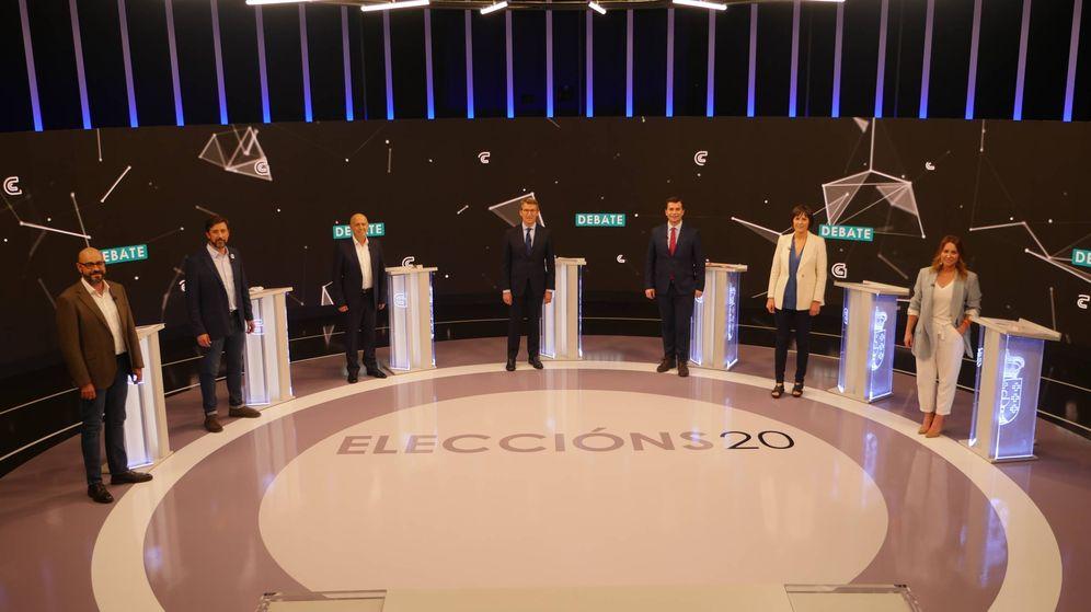 Foto: Debate a siete a la presidencia de la Xunta de Galicia. (CRTV/EP)