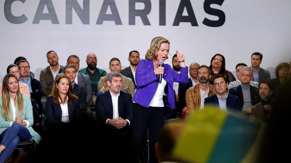 Foto: Acto de Coalición Canaria en Santa Cruz de Tenerife (Efe)