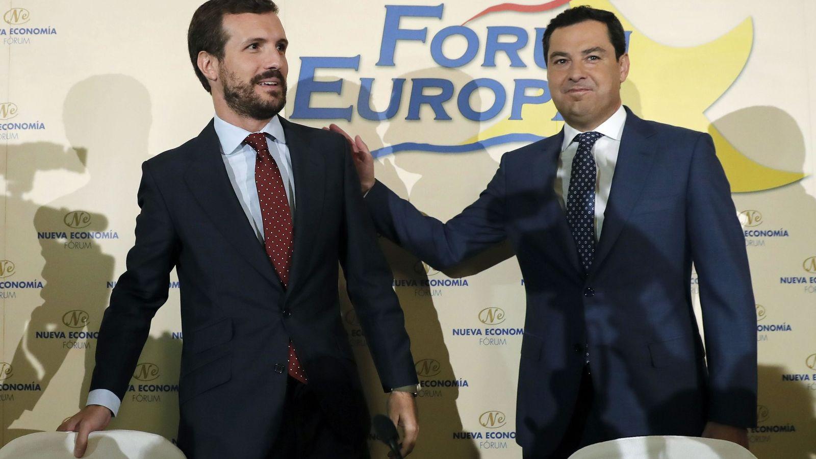 Foto: Juan Manuel Moreno Bonilla, junto a Pablo Casado. (EFE)