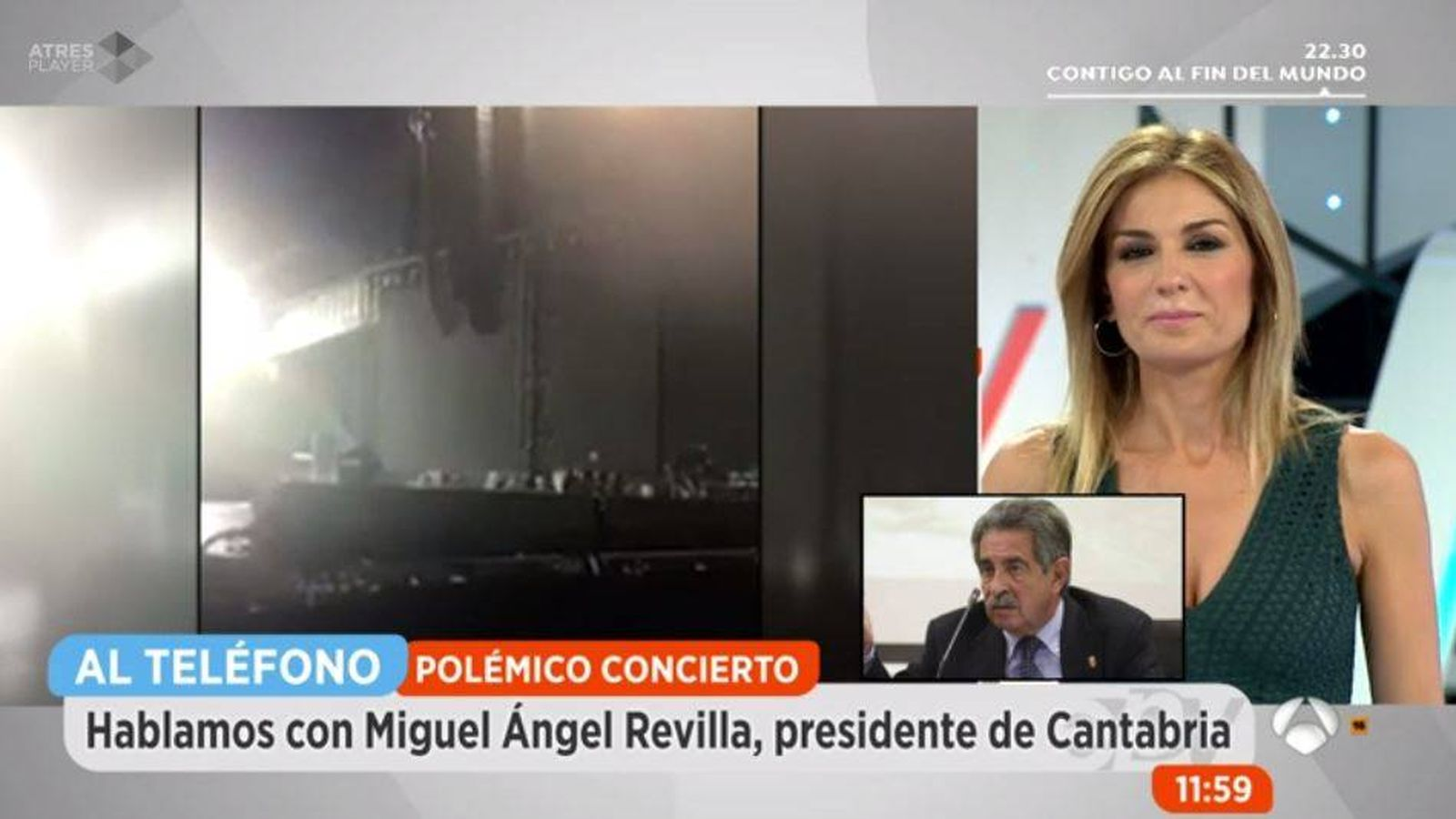 Foto: Miguel Ángel Revilla entra en directo con Sandra Golpe.