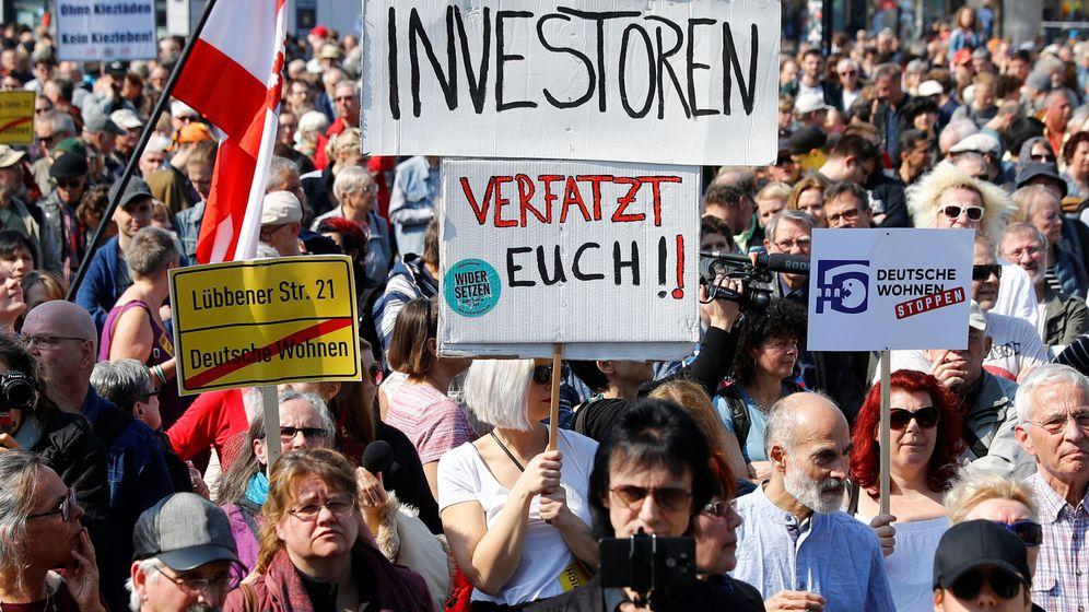 Foto: Protesta en Berlín contra la subida del alquiler. (Reuters)