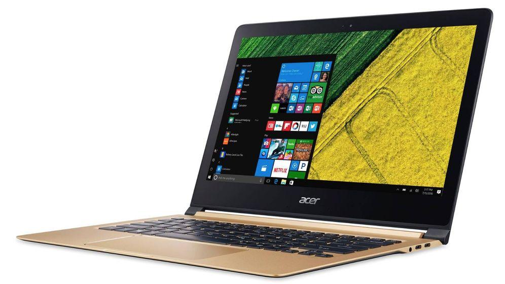 Foto: El portátil más delgado del mercado tiene menos de un centímetro de grosor. (Acer)
