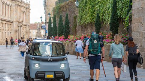 El Camino de Santiago, por carreteras y caminos en un  Citroën Ami eléctrico