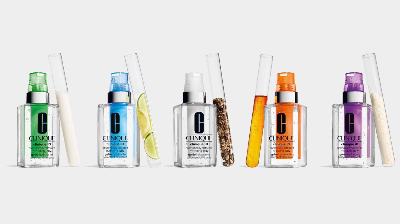Foto: Tres bases diferentes y cinco activos distintos –en 5 colores– que se presetan en pivetas y se introducen en el frasco para personalidar la crema.