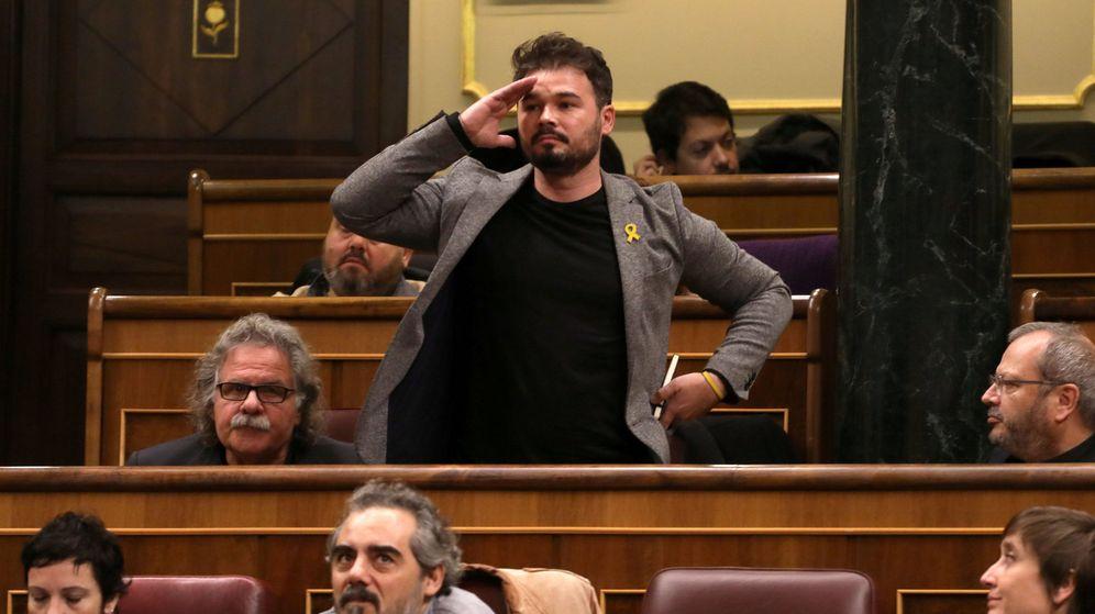 Foto: El diputado de ERC Gabriel Rufián, durante la sesión de control al Gobierno. (Reuters)