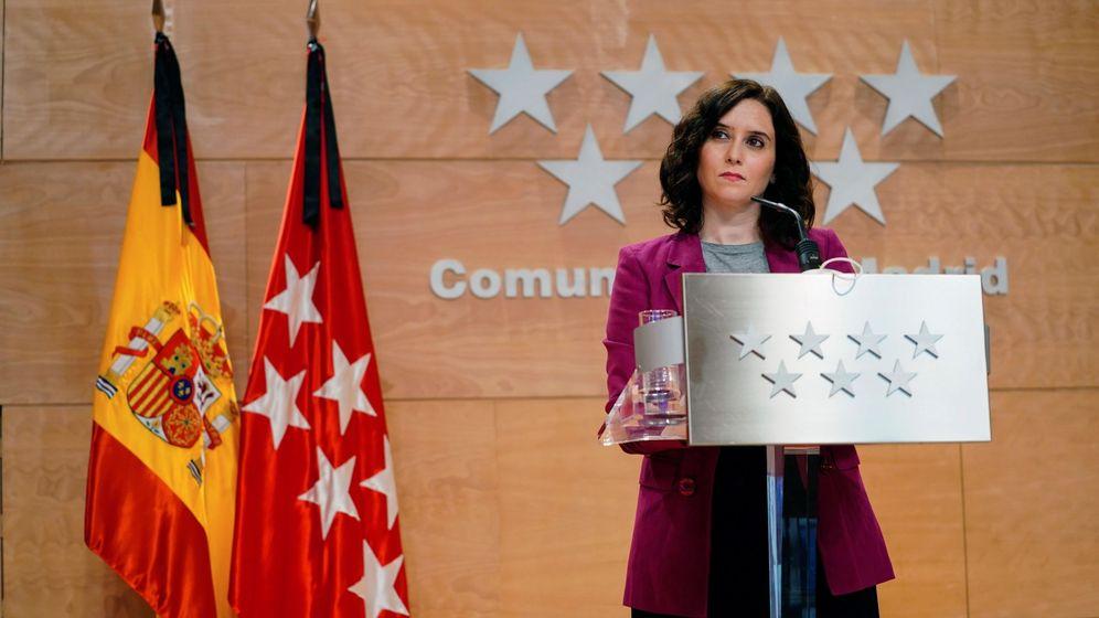 Foto:  La presidenta de la Comunidad de Madrid, Isabel Díaz Ayuso