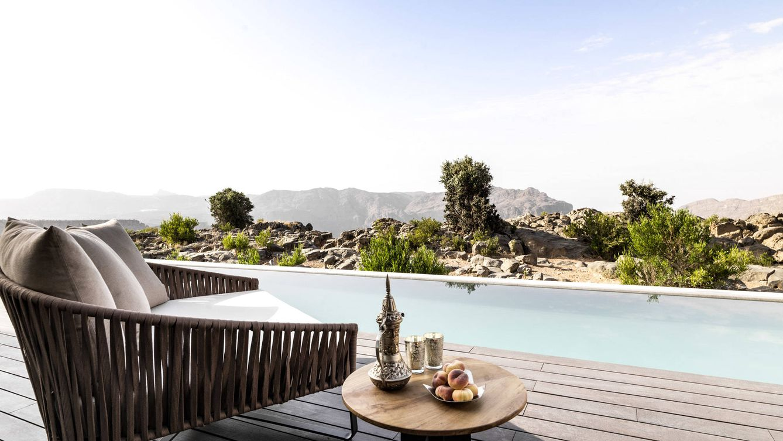 Foto: Imagen de una de las villas con su correspondiente piscina privada.