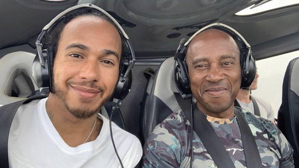 Foto: Lewis Hamilton, con su padre en un reciente viaje (Twitter Lewis Hamilton)