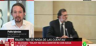 Post de 'Al rojo vivo' (10,8%, 15,4% y 12,5%) triunfa con la declaración de Rajoy
