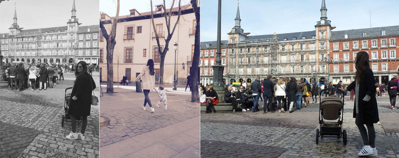 Foto: Sara Carbonero y su hijo Martín por las calles de Madrid ('Cuando nadie me ve'. Elle)
