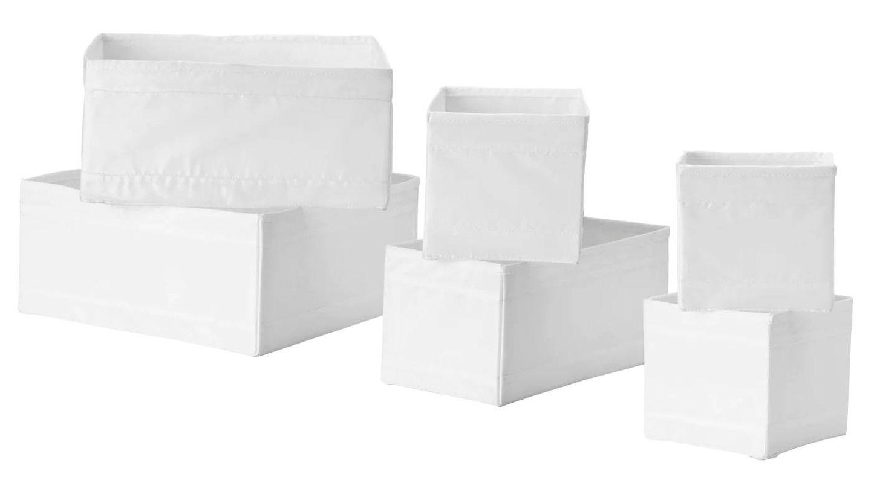 Con estas cajas Skubb de Ikea tus cajones siempre estarán ordenados. (Cortesía)