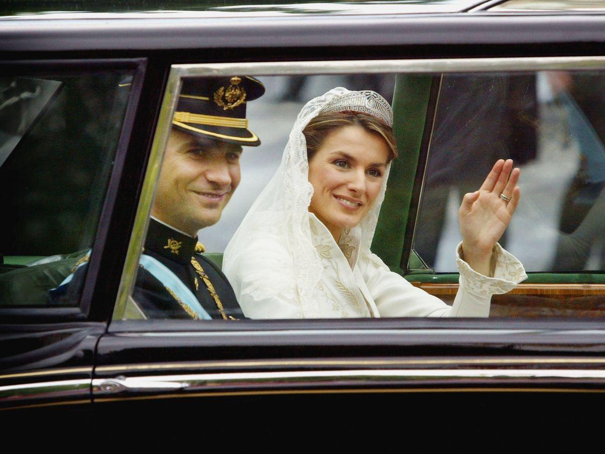 Foto: Letizia y Felipe, el día de su boda. (Getty)