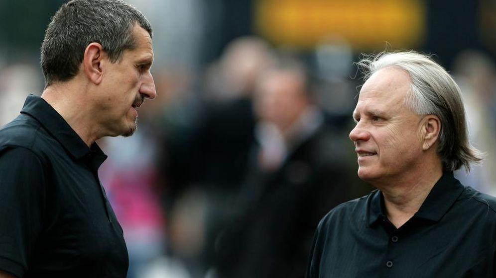 Foto: Gene Haas y el director del equipo Gunther Steiner (Foto: @F1)