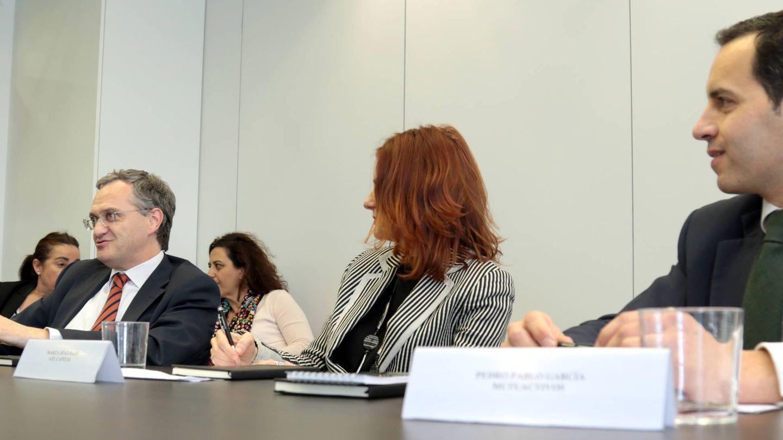 Marc Garrigasait, Marta Díaz-Bajo y Pedro Pablo García.