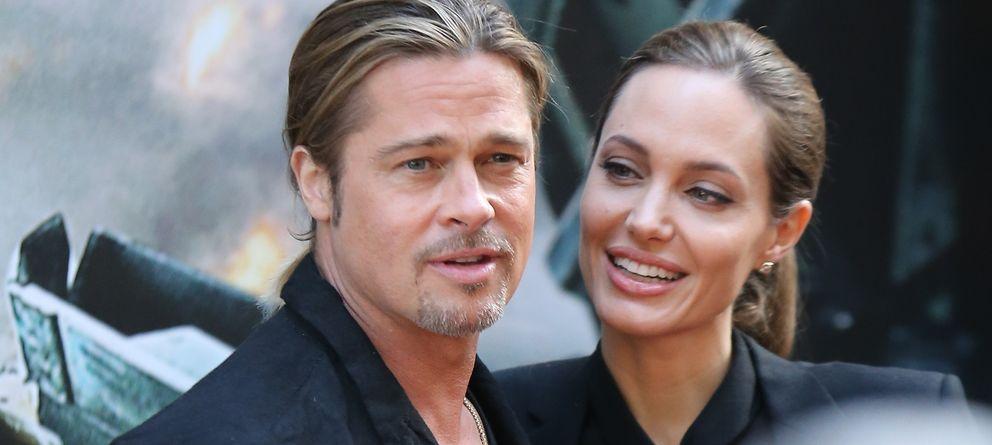 Foto: Angelina Jolie y Brad Pitt, en una imagen de archivo en París (Gtres)
