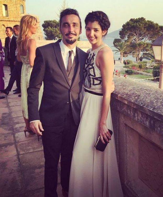 Foto: Canco Rodríguez y su novia en la boda de Rudy Fernández (Instagram)