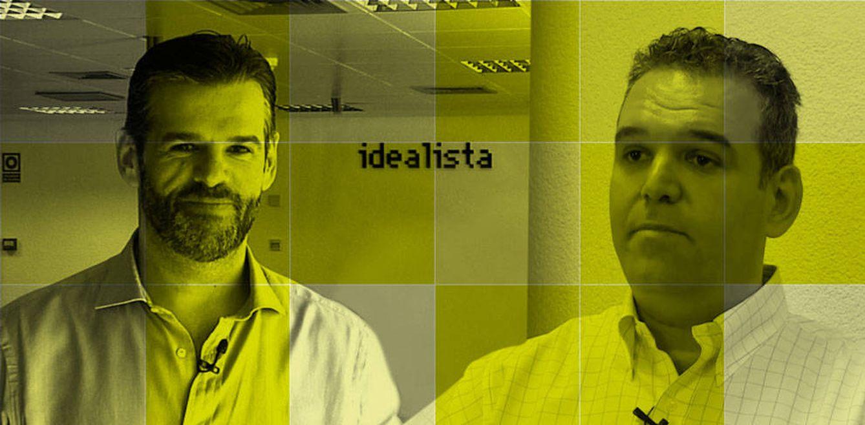 Foto: Fernando y Jesús Encinar (Idealista) en un fotomontaje realizado en Vanitatis
