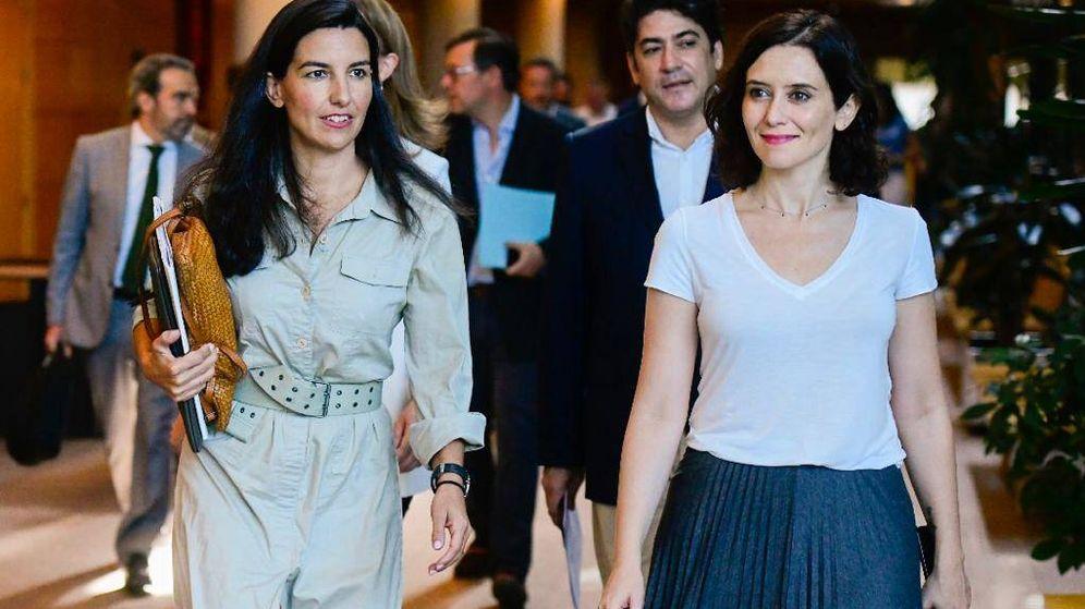 Foto: Isabel Díaz Ayuso y Rocío Monasterio se reunieron este viernes sin Ciudadanos. (PP)