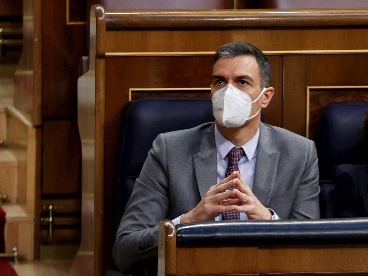Foto: El presidente del Gobierno, Pedro Sánchez, este miércoles en el Congreso. (EFE)