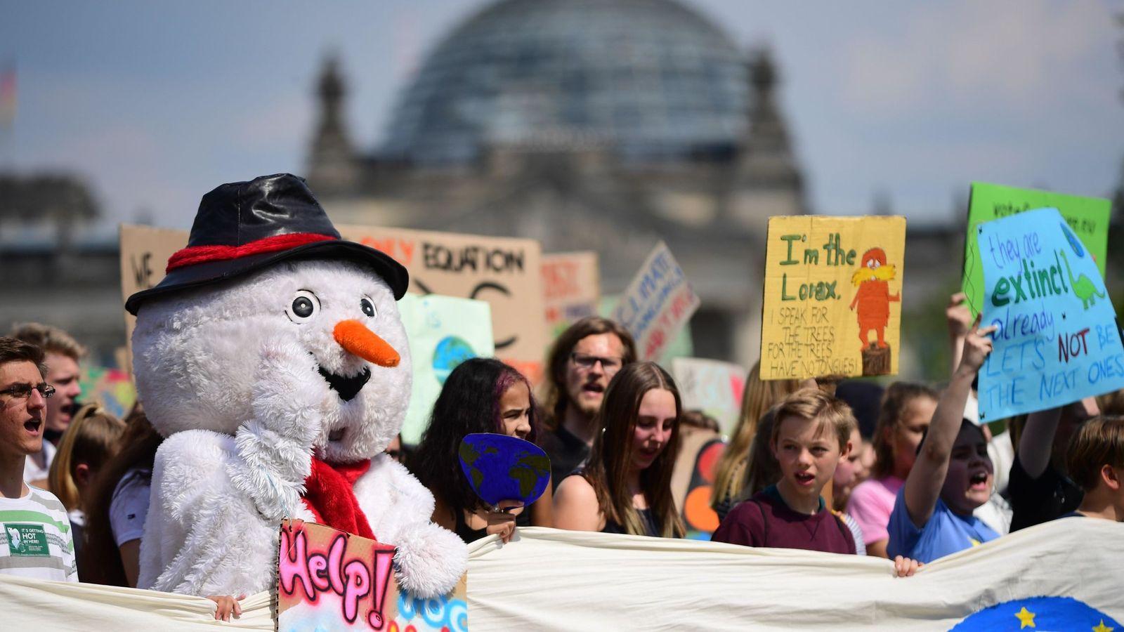 Foto: Manifestación contra el cambio climático en Berlín. (EFE)
