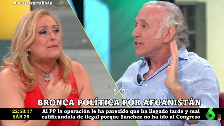 Elisa Beni y Eduardo Inda, en 'La Sexta noche'. (Atresmedia).