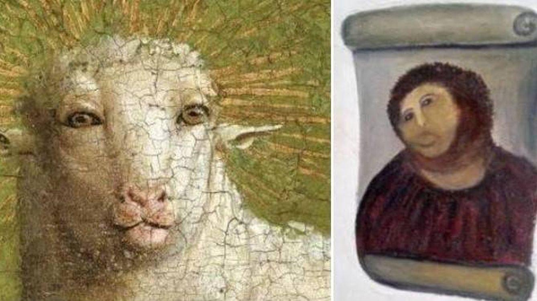 Del 'Ecce Homo' al 'San Jorge triste': No son restauraciones, son señoras con Titanlux