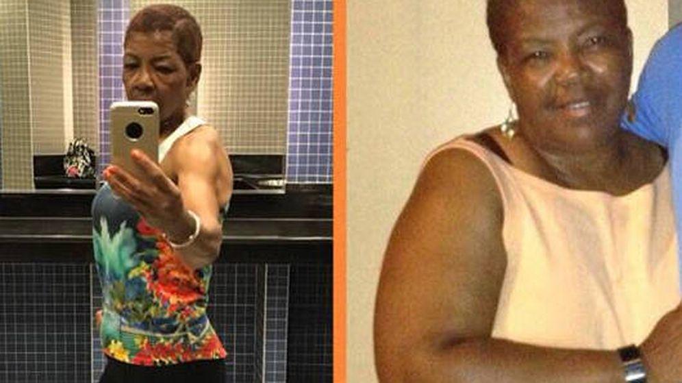 Foto: El antes y el después de Greta Ross en sólo 16 meses (Foto: Facebook)