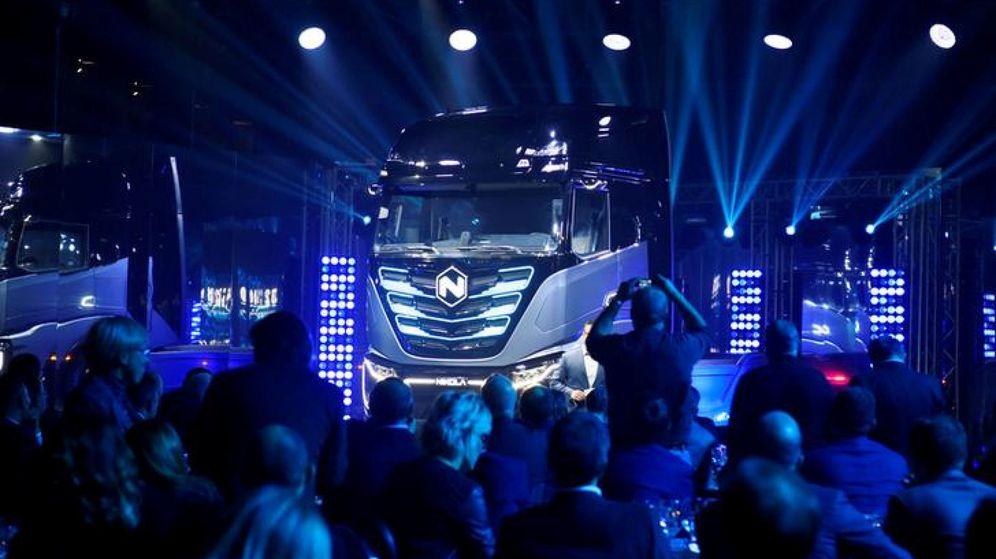 Foto: Un camión de Nikola, en una presentación en Turín. (Reuters)