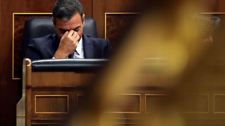 Foto: Pedro Sánchez durante el pleno extraordinario sobre la crisis del Open Arms. (EFE)