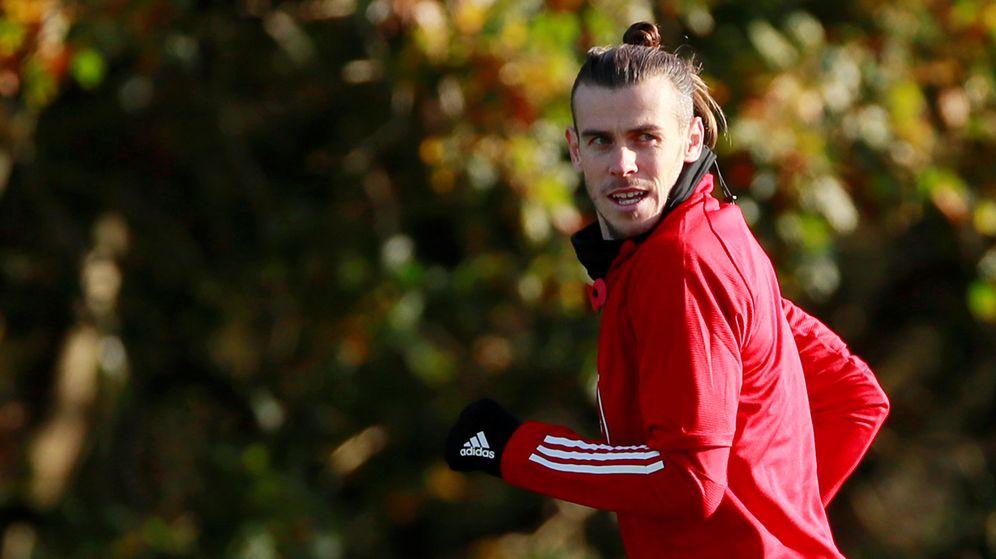 Foto: Gareth Bale, durante un entrenamiento de Gales esta semana. (Reuters)