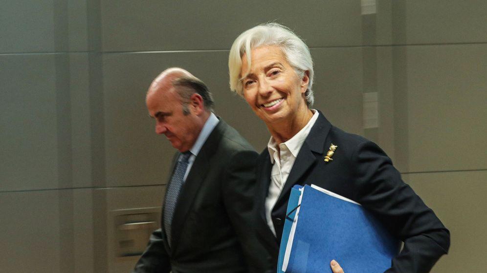Foto: Luis de Guindos y Christine Lagarde, vicepresidente y presidenta del BCE. (Reuters)