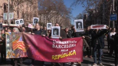 Manifestación de estudiantes en Barcelona por el juicio del proces