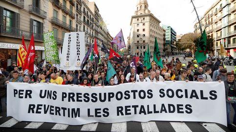 Días negros para Torra: médicos, estudiantes y profesores llenan las calles en plena huelga