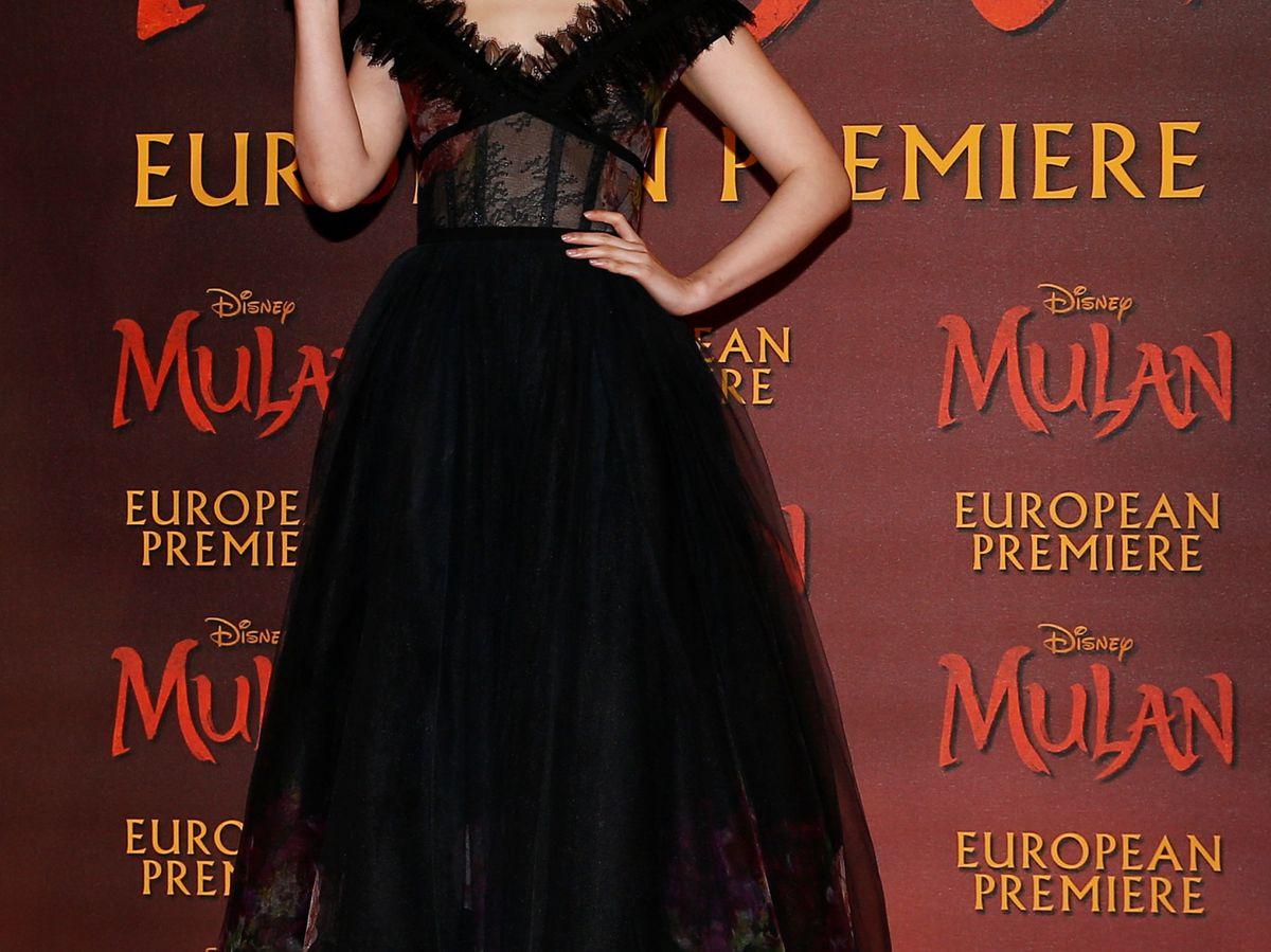 Foto: Yifei Liu en el estreno de 'Mulán' en Londres. (Retuers)