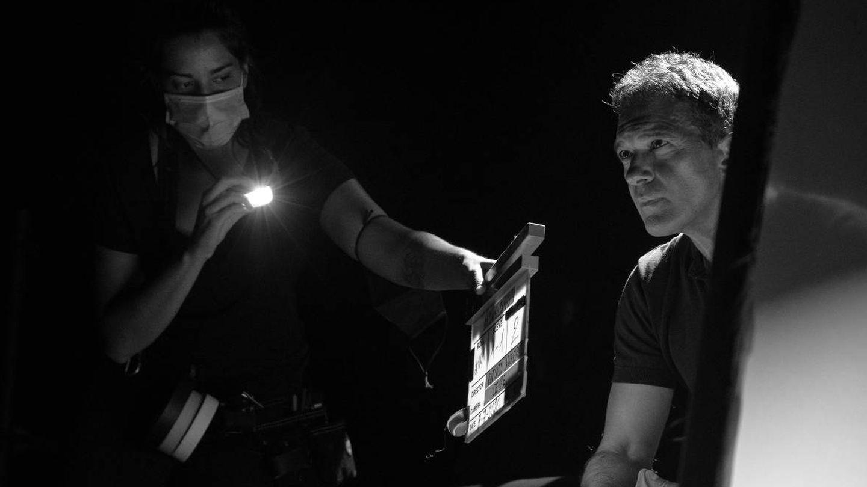Antonio Banderas, durante la grabación del programa. (Amazon Prime Video)