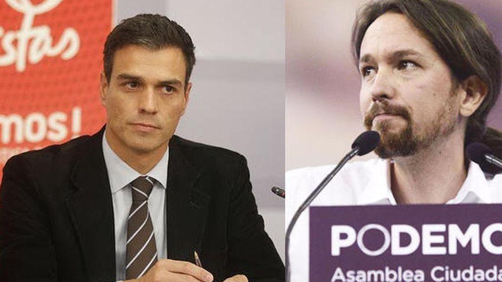 Foto: Pedro Sánchez (PSOE) y Pablo Iglesias (Podemos). EFE
