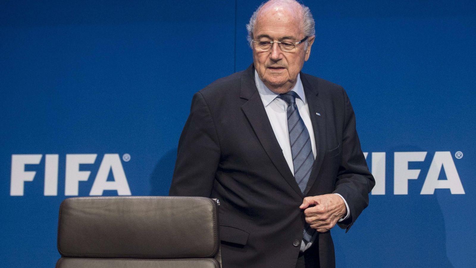 Foto: Blatter anunció que renuncia a seguir presidiendo la FIFA. (EFE)
