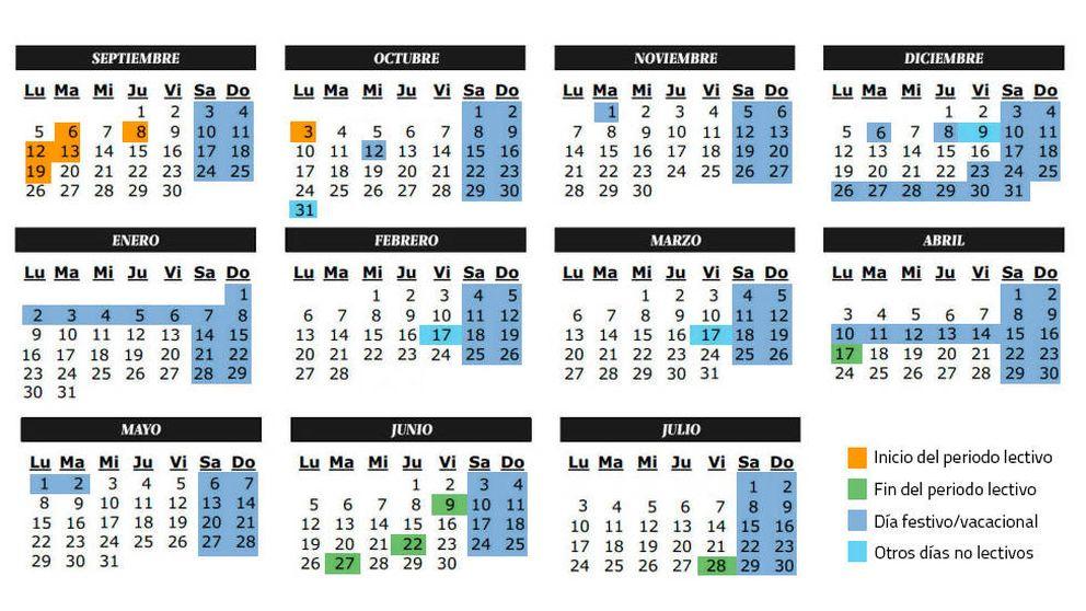 Calendario escolar del curso 2016-2017 en la Comunidad de Madrid