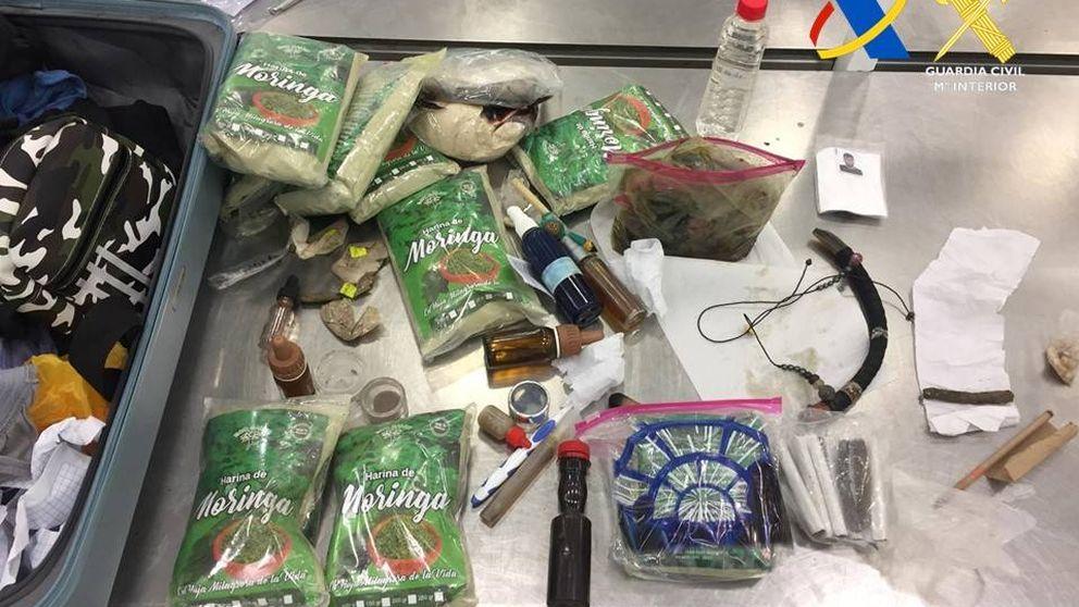 Interceptan 37,5 kilos de ayahuasca en el aeropuerto de Barajas de Madrid