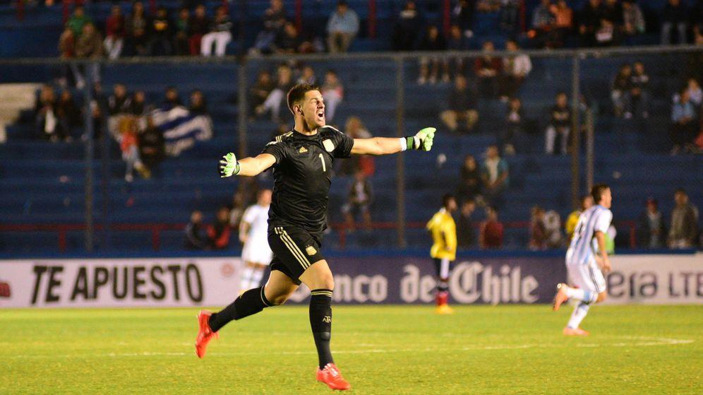 Foto: Augusto Batalla, portero internacional sub 20 de la selección argentina.