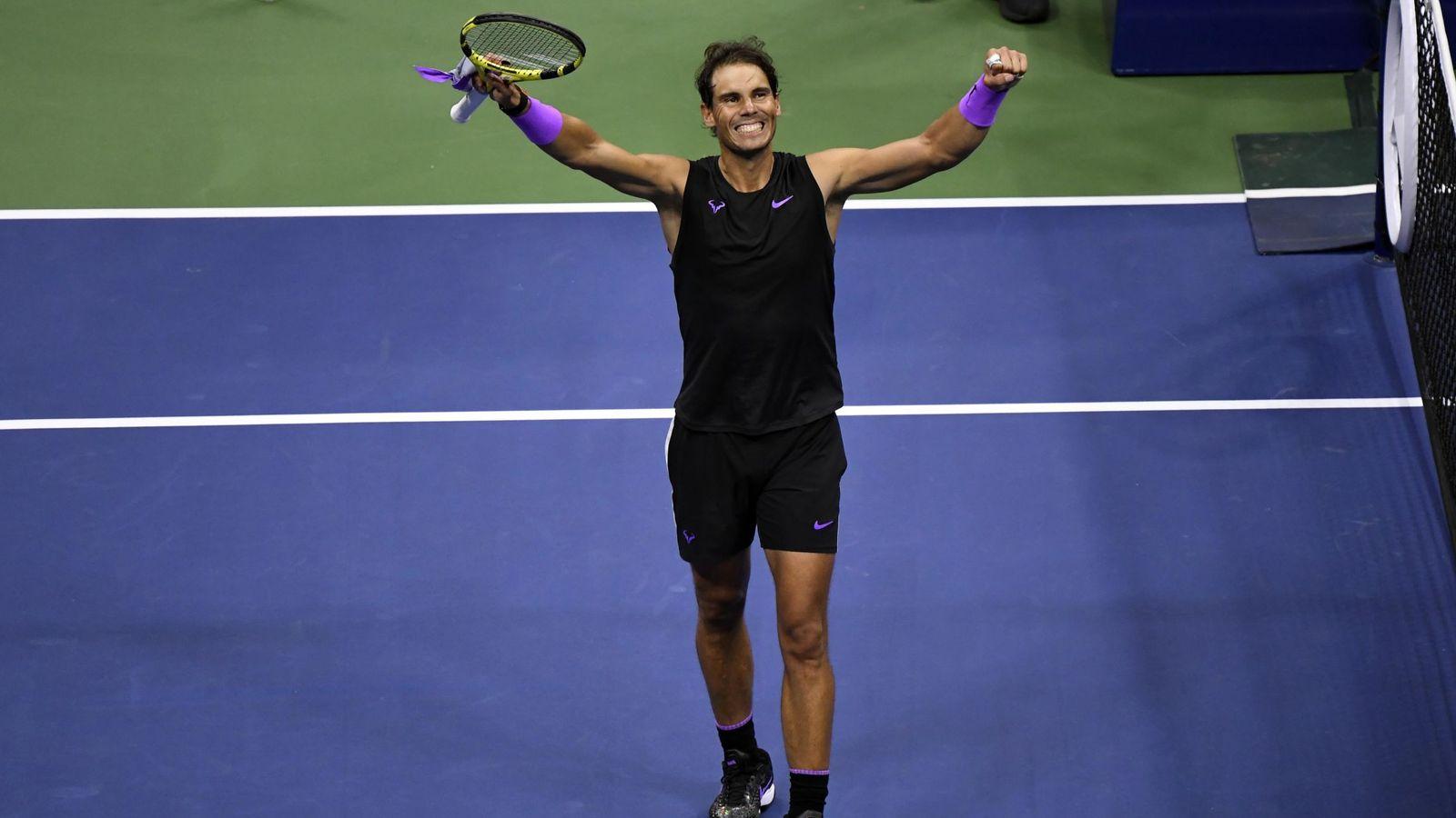 Foto: Rafa Nadal celebra su clasificación para la final del US Open. (USA TODAY Sports)